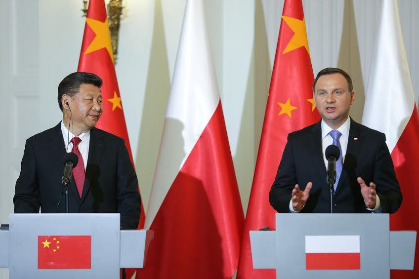 Председатель КНР Си Цзиньпин и Президент Польши Анжей Дуда