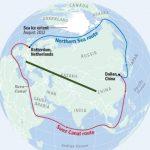 Северный Шёлковый путь через Севморпуть, путь КНР-Казахстан-Украина-ЕС