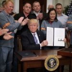 Фото Трамп і металурги США