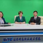 представники Львівської політехніки та Дніпровського університету у телестудії в КНР