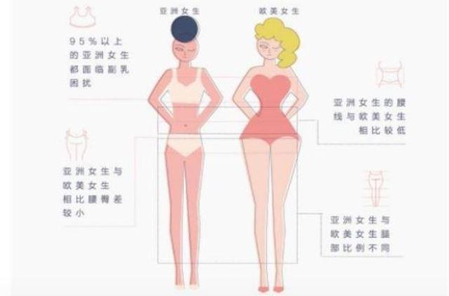 Азіатська і європейська фігури жінок