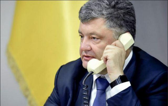 Порошенко позвонил Путину в КНР