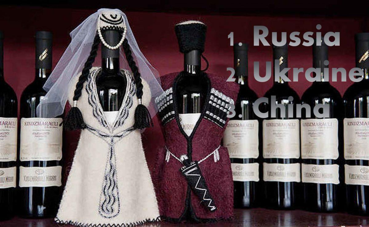 грузинське вино експорт до Китай,Україна,Росія