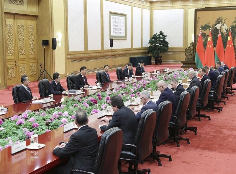 Делегация Беларуси в КНР перед Вторым форумом Пояс и дорога, в Пекине, 25 апреля 2019 года