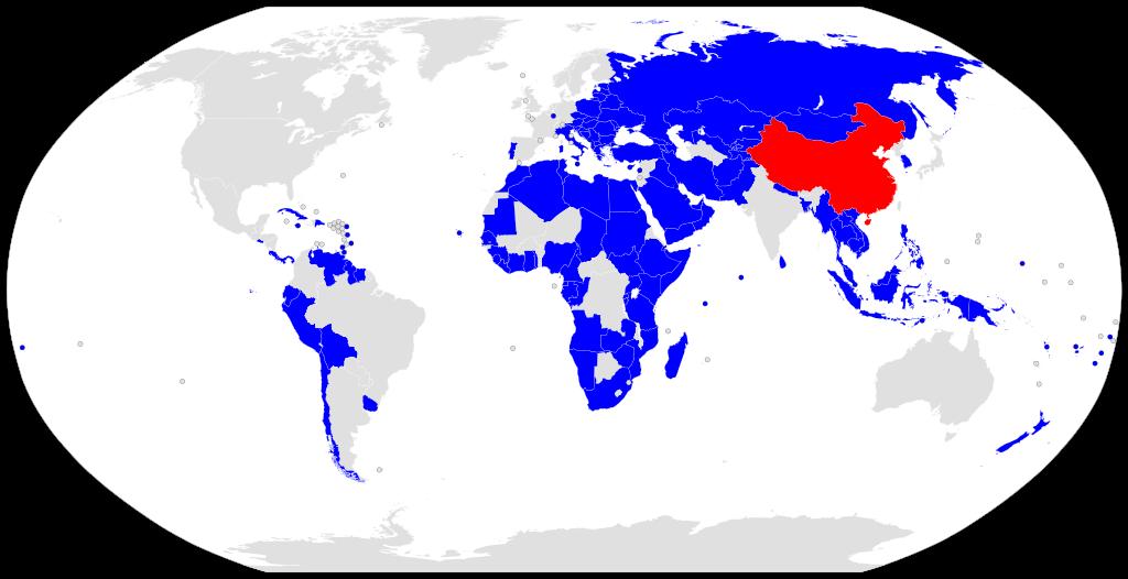 Карта стран, подписавших документы о сотрудничестве, связанные с инициативой Пояс и дорога