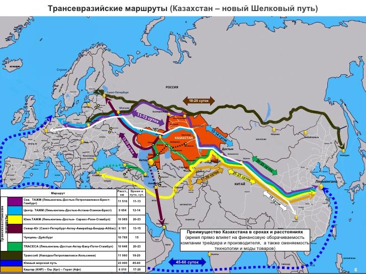 Дезинформирующая российская карта из Википедии, которая умалчивает, что пути из КНР в ЕС гораздо короче через Украину чем через Россию