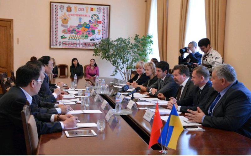 The Chinese delegation Kirovograd region