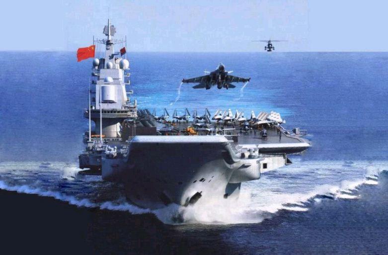Китайский авианосец украинского происхождения проводит учения в Южно-Китайском море