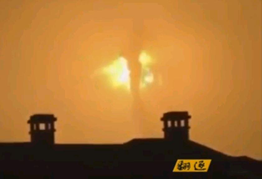 В Китае произошла серия мощных взрывов на химзаводе