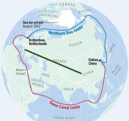 Новый «Шёлковый путь» из Китая через Северный Ледовитый океан