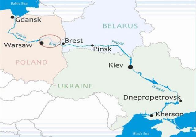 Річковий шлях від Балтійського моря до Чорного моря по річкам Вісла, Припять і Дніпро