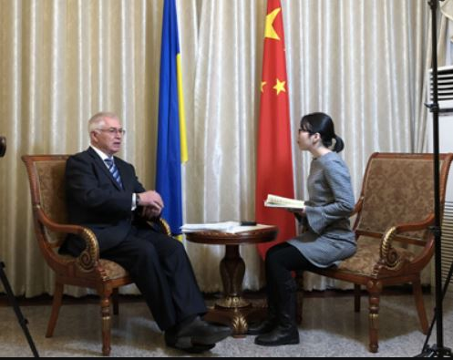 нтервю посла України в КНР Дьоміні Міжнародному радіо Китая