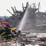 Вибух на хімічному заводі у КНР, тушіння пожежі, фото Рейтер